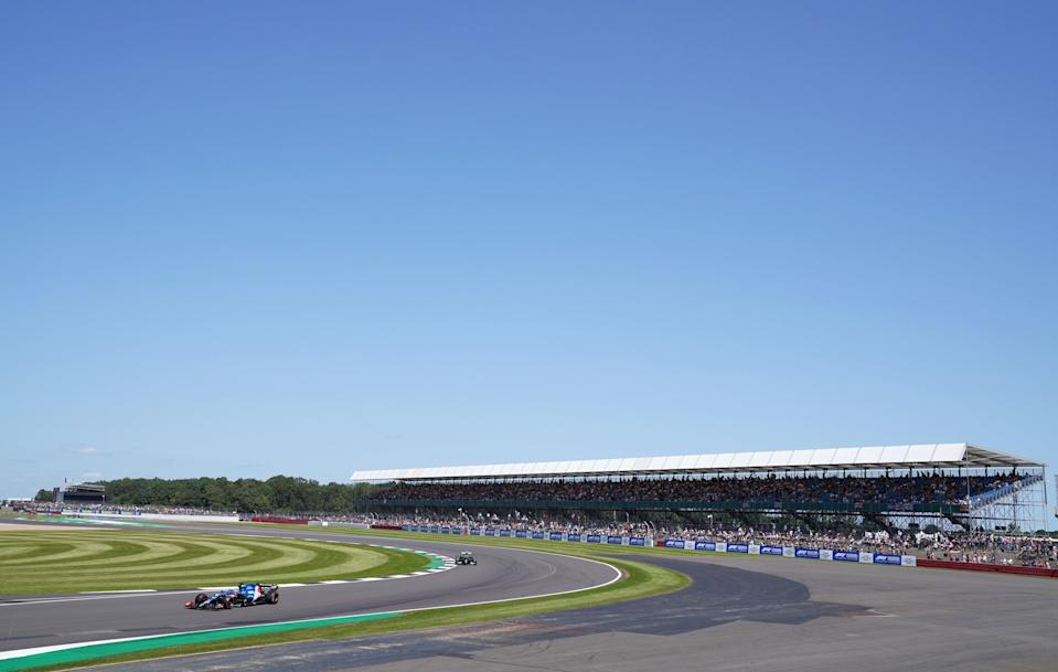 Cloudless skies above Silverstone where the British Grand Prix weekend was under way (Tim Goode/PA) (PA Wire)