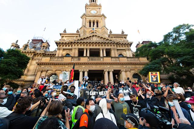 The Sydney protests passed off peacefully. (Speed Media/Icon Sportswire)