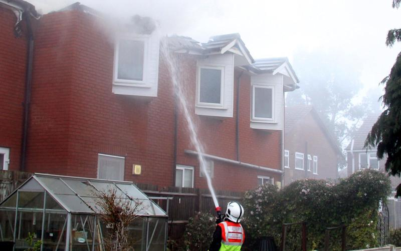 Fire at a care home, Cheshunt, Hertfordshire. - Rex Features