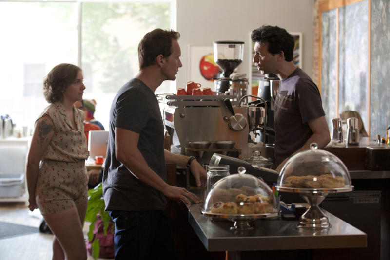 "Lena Dunham, Patrick Wilson and Alex Karpovsky in the ""Girls"" Season 2 episode, ""One Man's Trash."""