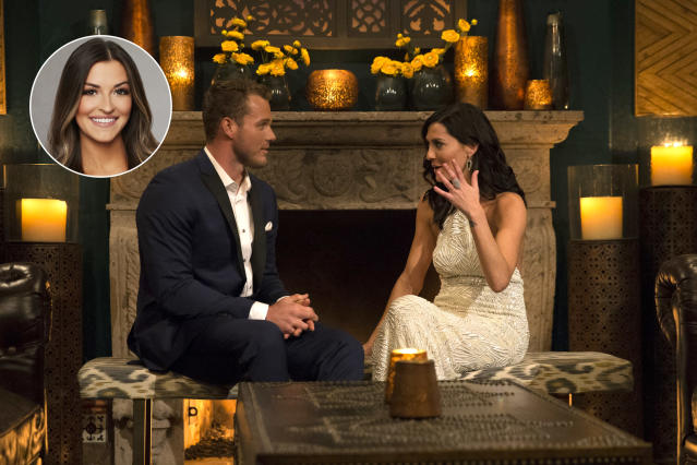 Becca Kufrin with Colton, on 'The Bachelorette.' (Photo: ABC/Paul Hebert)