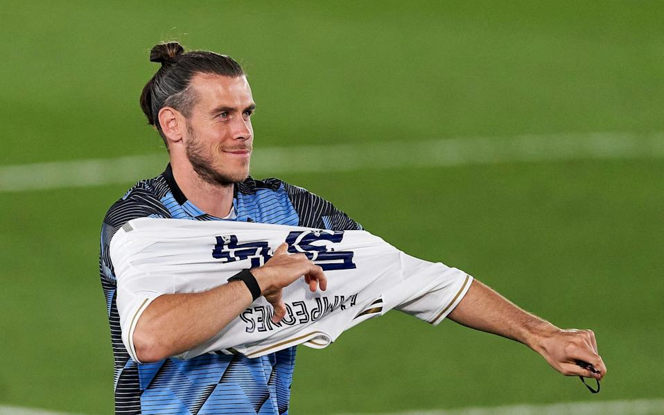 Gareth Bale playing for Real Madrid -Tottenham looking to re-sign Gareth Bale from Real Madrid in potential swap deal with Dele Alli - GETTY IMAGES