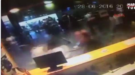 Reported CCTV of people running in fear during attack at Istanbul airport. Photo: Twitter