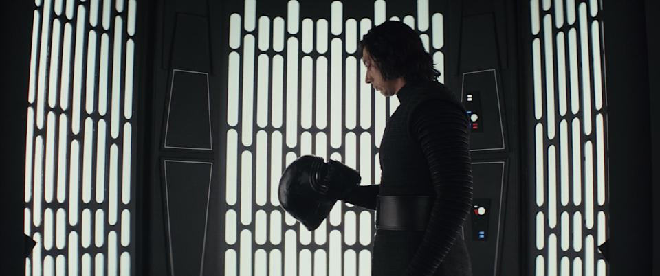 """Adam Driver was totally game for Kylo Ren's shirtless scene in """"Last Jedi"""""""