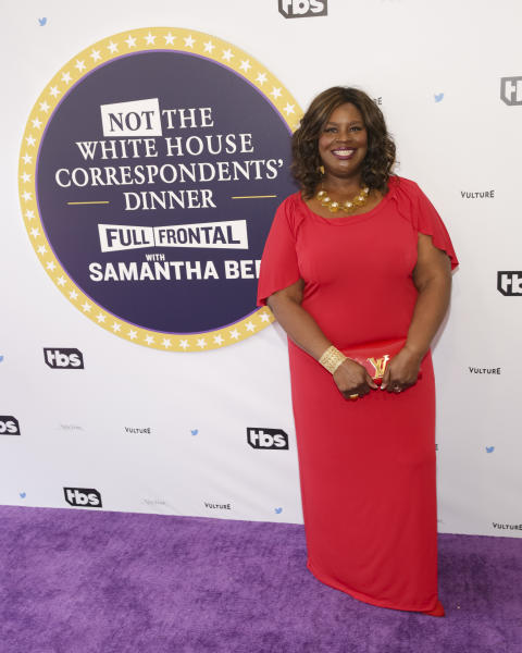 "Retta arrives for ""Full Frontal with Samantha Bee's Not the White House Correspondents' Dinner"" at DAR Constitution Hall on Saturday, April, 29, 2017, in Washington. (Photo by Brent N. Clarke/Invision/AP)"