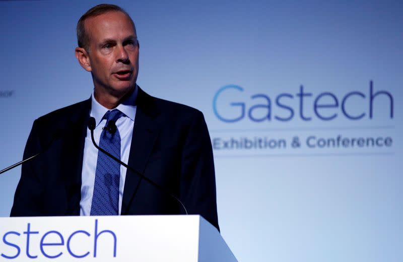 FILE PHOTO: Chevron Corp Vice Chairman Wirth speaks at Gastech, the world's biggest expo for the gas industry, in Chiba