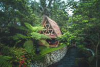 "<p>BRB, we need to book this immediately. A must-see Airbnb up for grabs in Bali is an eco-bamboo home which has been wish listed a grand total of 77, 1777 times. But it's hardly surprising, as the secluded spot is hailed for its awe-inspiring views and tranquil environment.<br>For those of you already backing our bags, make sure to hurry as the hideout requires booking six months in advance. <strong><a href=""https://www.airbnb.co.uk/rooms/5904771"" rel=""nofollow noopener"" target=""_blank"" data-ylk=""slk:Book now"" class=""link rapid-noclick-resp"">Book now</a></strong>. <em>[Photo: Caters]</em> </p>"
