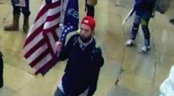 PHOTO: The FBI said it identified Garret Miller as the man in surveillance video from the Capitol, in this image released in a criminal complaint. (FBI)