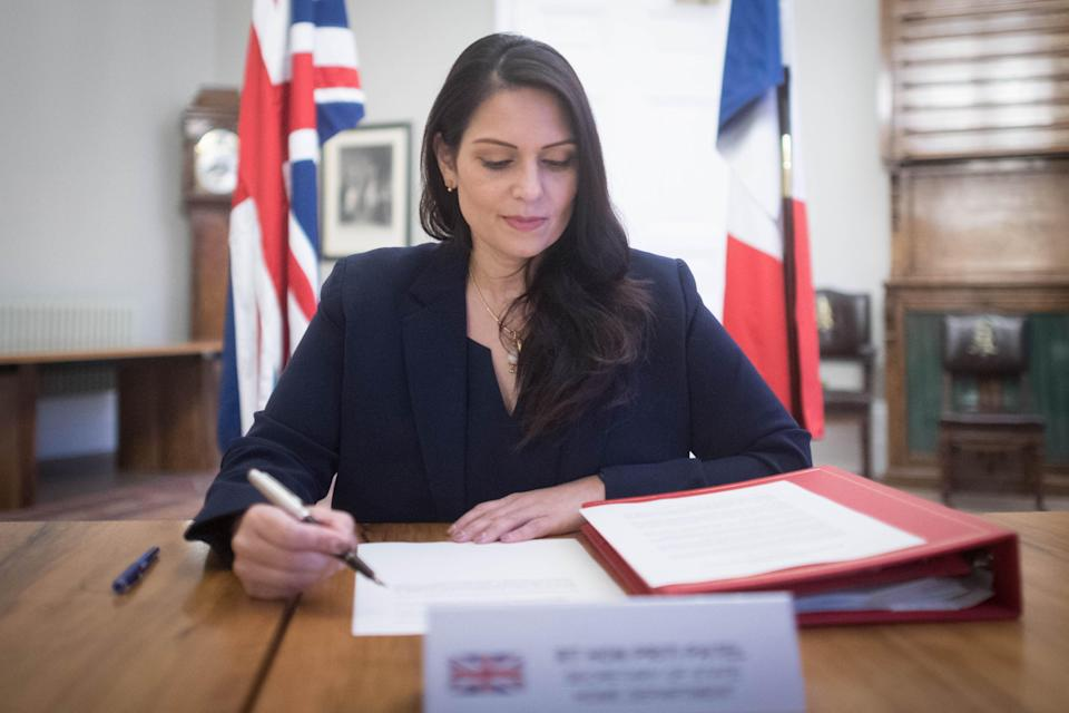 <p>Priti Patel said the agreement would make a 'difference' to migrant numbers</p> (PA)