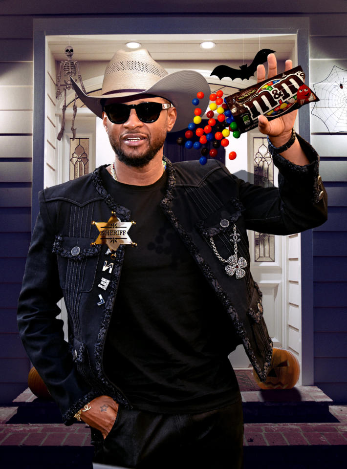 """<p>OMG! While Mariah Carey and Jennifer Lopez have reputations as divas, Usher is also exceedingly demanding about some things, such as the way he eats his favorite candy: M&Ms. The singer requires that the chocolate candies be <a rel=""""nofollow"""" href=""""http://www.gettyimages.com/event/the-truth-tour-2004-baltimore-51511403#brand-candies-separated-by-color-are-pictured-during-an-interview-in-picture-id51522463"""" target=""""_blank"""">separated by color</a> in his concert dressing rooms. Halloween night will provide the perfect opportunity for him to pass out the M&Ms that he has stashed for a candy emergency. His team will no doubt be ecstatic, since no one will have to worry about dividing them into piles of brown, orange, red, yellow, blue, and green. (Photo: Getty Images/Illustration by Daniel Miller) </p>"""