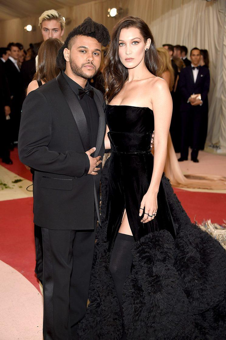 The Weeknd and Bella Hadid attends