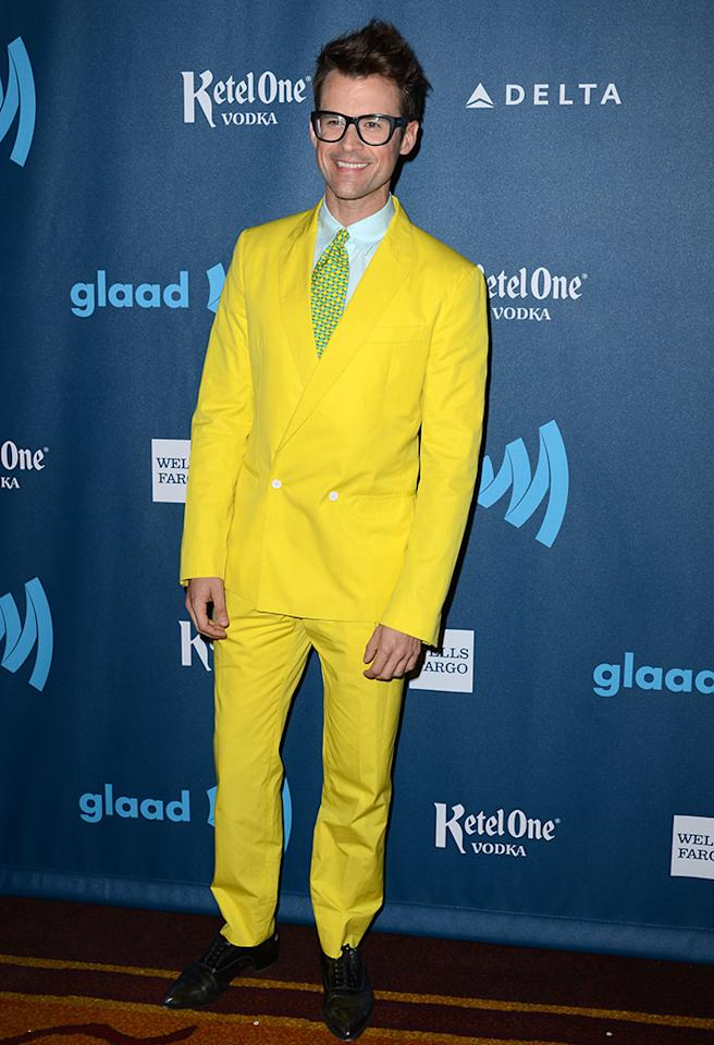 LOS ANGELES, CA - APRIL 20:  TV personality Brad Goreski arrives at the 24th Annual GLAAD Media Awards presented by Ketel One and Wells Fargo at JW Marriott Los Angeles at L.A. LIVE on April 20, 2013 in Los Angeles, California.  (Photo by Earl Gibson III/Getty Images)