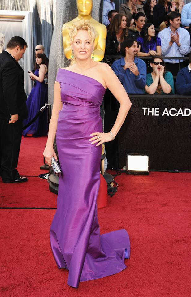 Virginia Madsen arrives at the 84th Annual Academy Awards in Hollywood, CA.