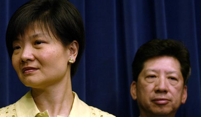 Audrey Eu and Ronny Tong in 2004. The pair recruited Tanya Chan to join the Civic Party, which they founded. Photo: SCMP
