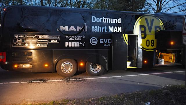 Borussia Dortmund bus after explosion