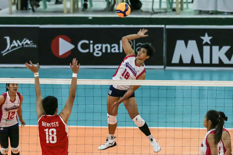Tots Carlos provides the spark off the bench for Creamline's win over Petro Gazz in the 2021 Premier Volleyball League (PVL) Open Conference. (Photo: PVL Media Bureau)