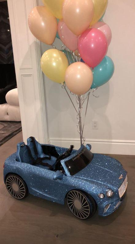 Birthday girl: Dream was surprised with the luxury gift (Khloe Kardashian Instagram)