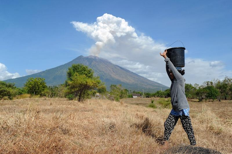 Dozens of Bali flights were cancelled in June when Mount Agung last erupted and shot a plume of ash and smoke more than 1,000 metre (3,300 feet) into the sky