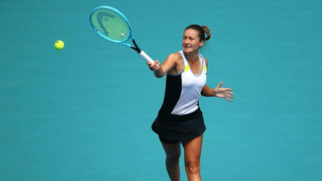 Dalila Jakupovic suffered a coughing fit on the court and was forced to withdraw from her Australian Open qualifying match.