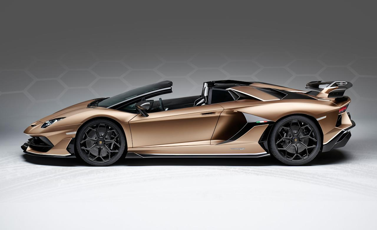 "<p>It's pretty much a given that when a new Lamborghini coupe comes out, a droptop model is sure to follow. This has yet again been proven true with <a rel=""nofollow"" href=""https://www.caranddriver.com/lamborghini/aventador"">the Aventador</a> SVJ Roadster, which has just debuted at the Geneva auto show. Like the name says, this is <a rel=""nofollow"" href=""https://www.caranddriver.com/reviews/a23365573/2019-lamborghini-aventador-svj-759-hp-warrior/"">an Aventador SVJ coupe</a> with the roof lopped off-and no other changes made.</p>"