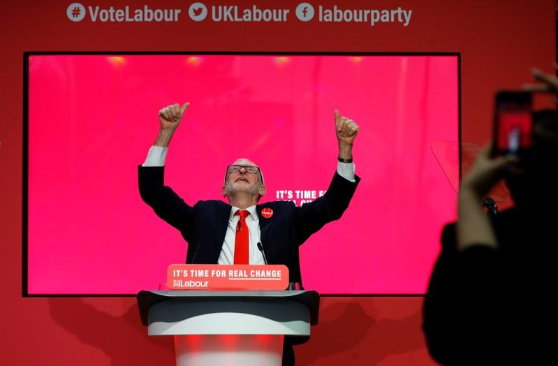 Leader of the Labour Party Jeremy Corbyn speaks at the launch of the party manifesto in Birmingham