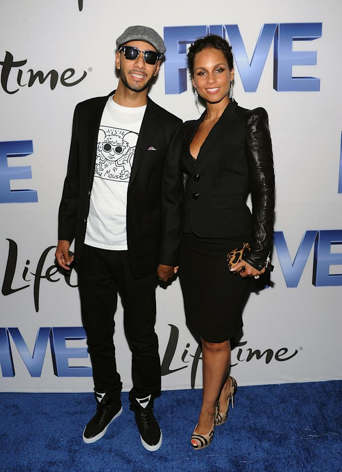 "Alicia Keys -- who also directed one of the ""Five"" films -- arrived with her husband, rapper and music producer Swizz Beatz. The two have a son together named Egypt, who turns 1 next month. Dimitrios Kambouris/<a href=""http://www.wireimage.com"" target=""new"">WireImage.com</a> - September 26, 2011"