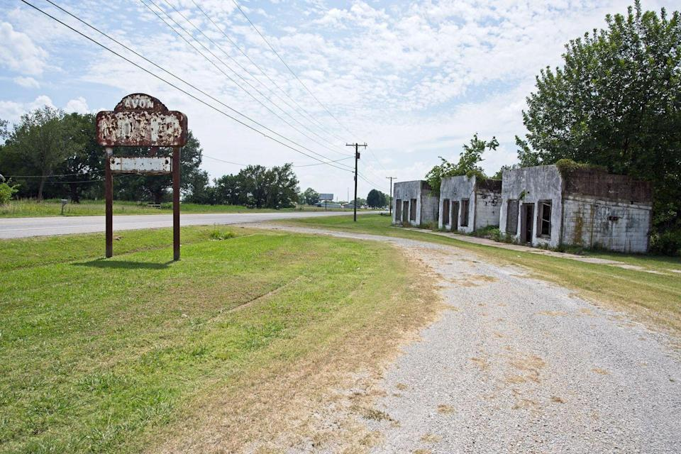 """<p><strong>Avon Motel - Avon, OK</strong></p><p>The cabin rooms to the old Avon Motel still stand just off of the historic Route 66. What makes these pre-war skeletons even creepier is to think about what occurred within the walls of each of the rooms, especially given <a href=""""https://www.huffpost.com/entry/haunted-route-66_b_2600243?utm_hp_ref=travel"""" data-ylk=""""slk:Route 66's dark past"""" class=""""link rapid-noclick-resp"""">Route 66's dark past</a>. <br></p><p>Photo: Flickr/<a href=""""https://www.flickr.com/photos/164582289@N02/48413531517/in/photolist-fpnXYK-Ffhu3n-ccKM33-fpCe7f-fjCrb1-fAabuo-6R6kp1-bVownp-ftVp91-mkPJXZ-ccKM9o-25Hgtqu-bVower-dmFXQc-fpCeAS-fyRFnC-fkQrob-aBVJ3e-frdKCR-ftVovY-xe3L6L-5xV52b-6RqLJ2-4EZcGr-4F4sDh-4F4sgQ-aBVJ3i-aBVJ3g-6R3Wzr-pswKqj-2gL91dD-xu3uPV-eKza6T"""" rel=""""nofollow noopener"""" target=""""_blank"""" data-ylk=""""slk:Terry Williams"""" class=""""link rapid-noclick-resp"""">Terry Williams</a></p>"""