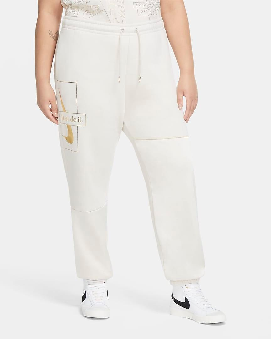 "<br><br><strong>Nike</strong> Fleece Pants, $, available at <a href=""https://go.skimresources.com/?id=30283X879131&url=https%3A%2F%2Fwww.nike.com%2Ft%2Fsportswear-icon-clash-womens-fleece-pants-plus-size-bTwcq6%2FDC0780-104"" rel=""nofollow noopener"" target=""_blank"" data-ylk=""slk:Nike"" class=""link rapid-noclick-resp"">Nike</a>"