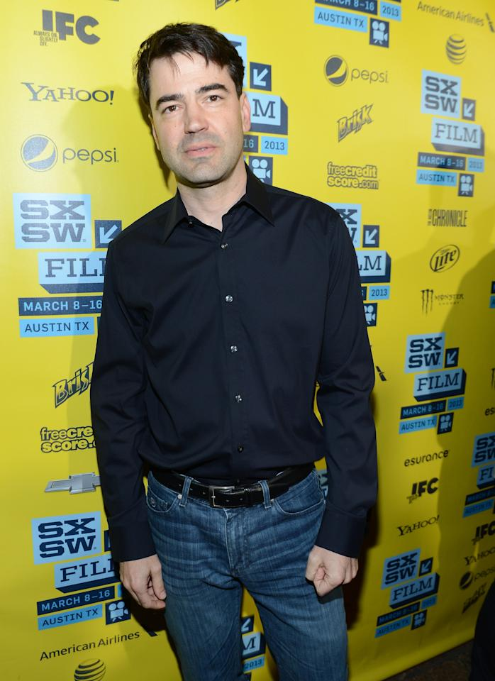 "AUSTIN, TX - MARCH 09:  Actor Ron Livingston attends the World Premiere of ""Drinking Buddies"" at the 2013 SXSW Music, Film + Interactive Festival at the Paramount Theatre on March 9, 2013 in Austin, Texas.  (Photo by Michael Buckner/Getty Images)"