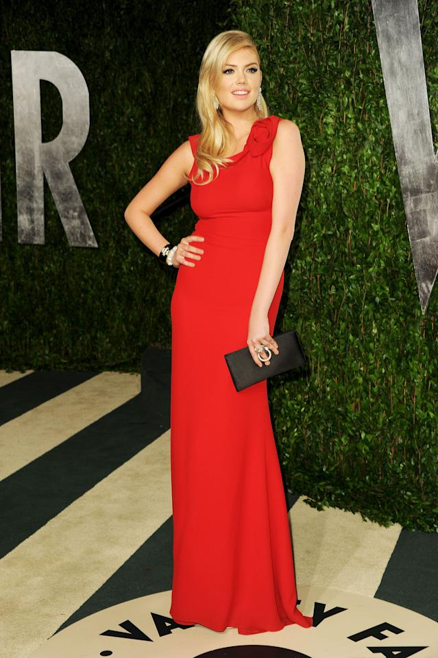 WEST HOLLYWOOD, CA - FEBRUARY 26:  Model Kate Upton arrives at the 2012 Vanity Fair Oscar Party hosted by Graydon Carter at Sunset Tower on February 26, 2012 in West Hollywood, California.  (Photo by Pascal Le Segretain/Getty Images)