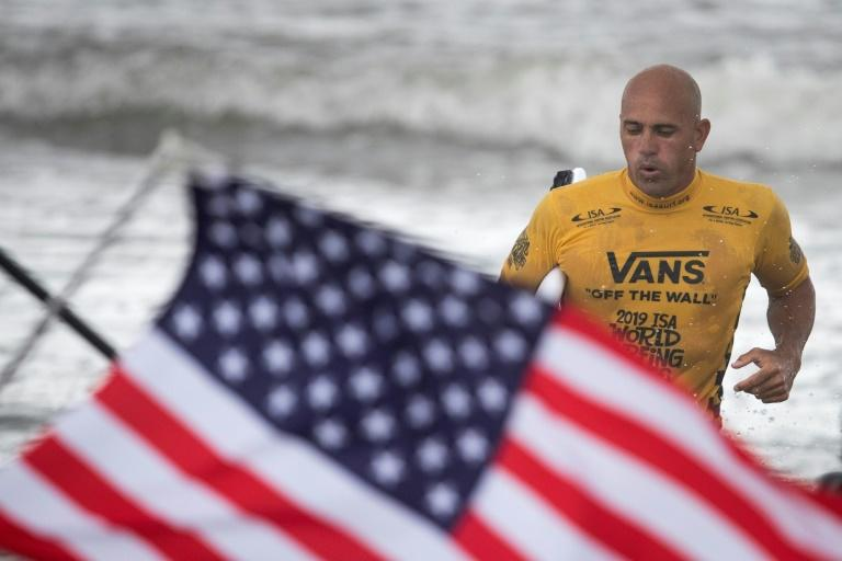 """Flying the flag: Kelly Slater has been world champion 11 times. """"But the Olympics is obviously something more elite, more special, more rare,"""" he says (AFP Photo/Behrouz MEHRI)"""