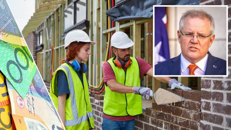 Scott Morrison announces JobTrainer scheme. images: Getty