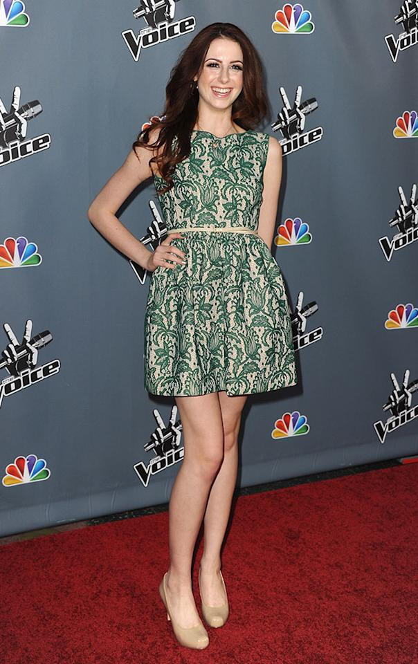 "Paulina Cerrilla arrives at the screening of NBC's ""The Voice"" Season 4 at TCL Chinese Theatre on March 20, 2013 in Hollywood, California."