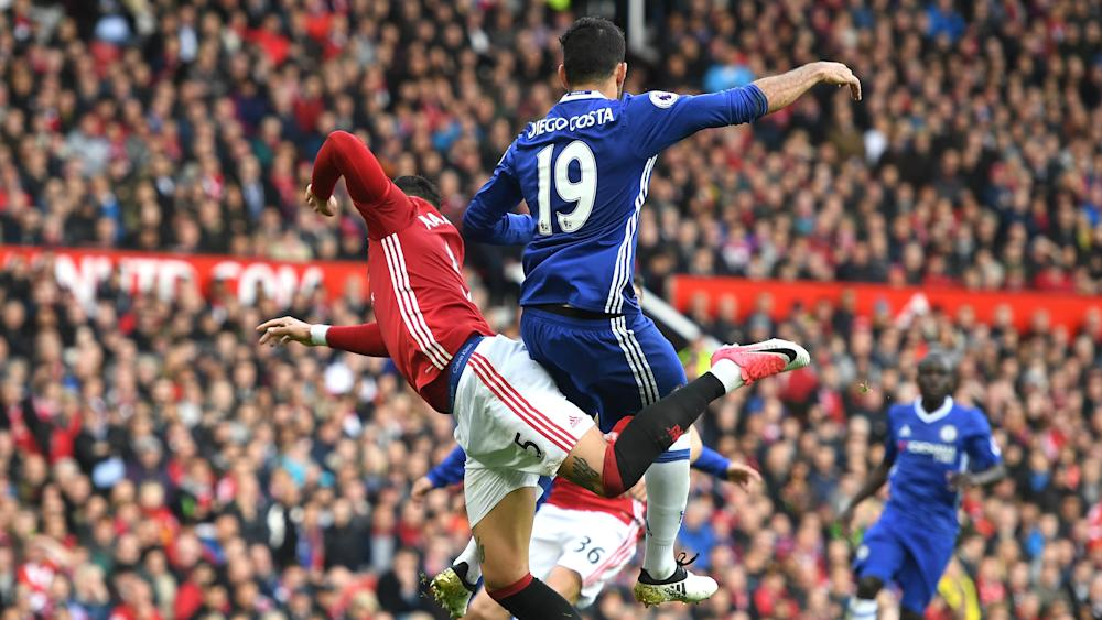 Diego Costa Marcos Rojo Manchester United Chelsea Premier League