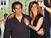 """<p>Aniston followed up <em>Bruce Almighty</em> by teaming up with Ben Stiller in <em>Along Came Polly</em>, a 2004 comedy directed by John Hamburg. Jen played the free-spirited titular character, Polly Prince. Filming the salsa dancing scenes of the film left Aniston's feet looking like """"raw meat,"""" as she told <a href=""""https://www.ign.com/articles/2004/01/15/an-interview-with-jennifer-aniston-and-ben-stiller?page=2"""" rel=""""nofollow noopener"""" target=""""_blank"""" data-ylk=""""slk:IGN"""" class=""""link rapid-noclick-resp"""">IGN</a>.</p>"""