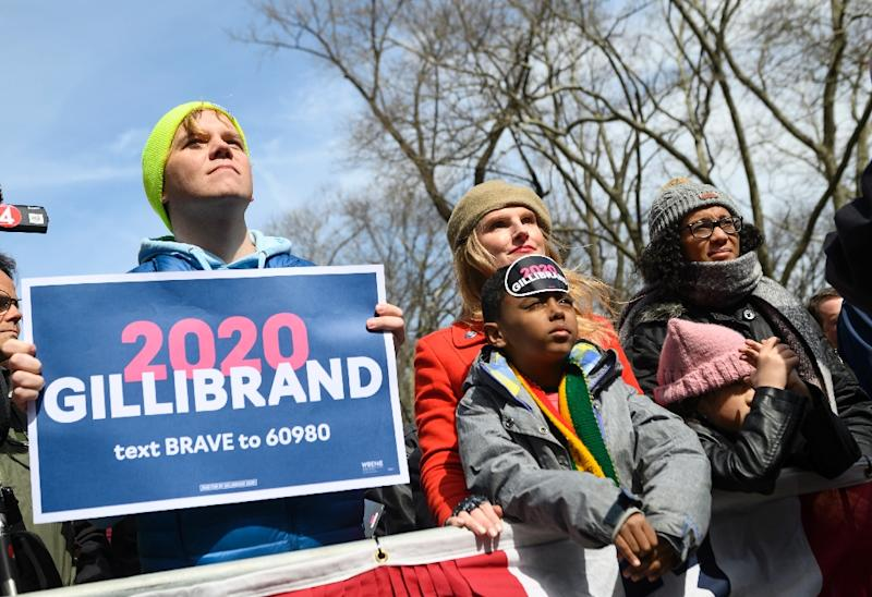 Gillibrand's supporters are confident that she will rise in the polls in the coming months (AFP Photo/Johannes EISELE)
