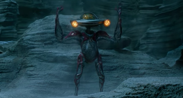 Alpha 5 (voiced by Bill Hader) in new clip from 'Power Rangers'