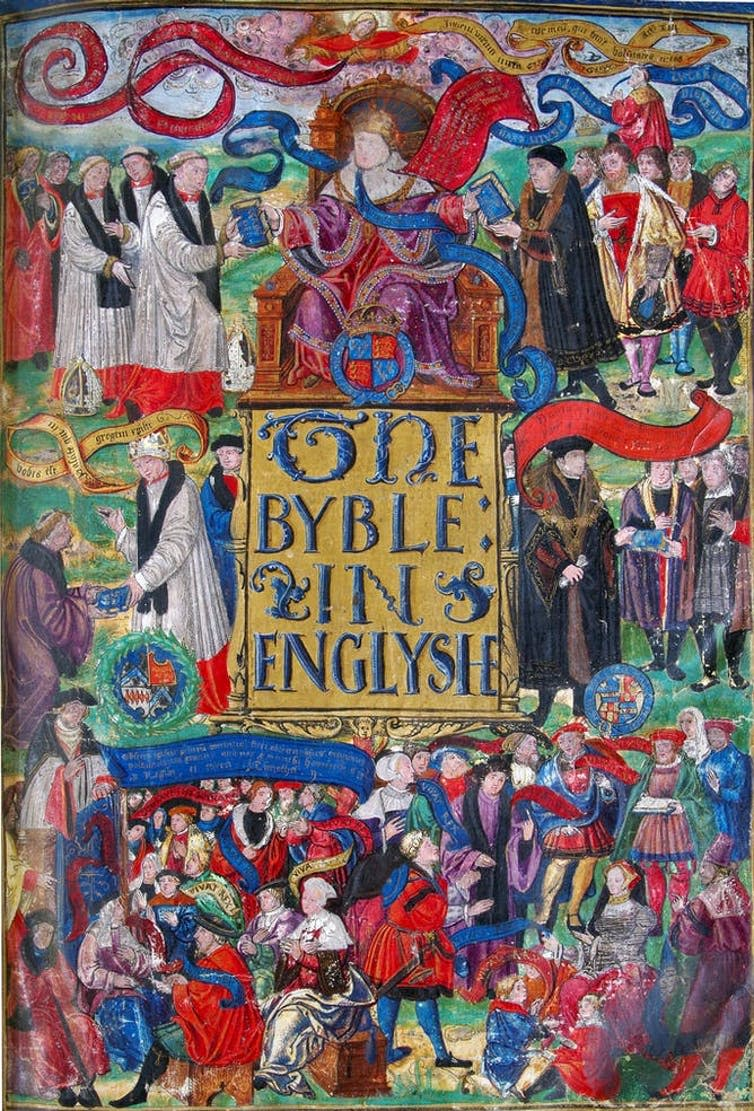 "<span class=""caption"">The Great Bible.</span>"