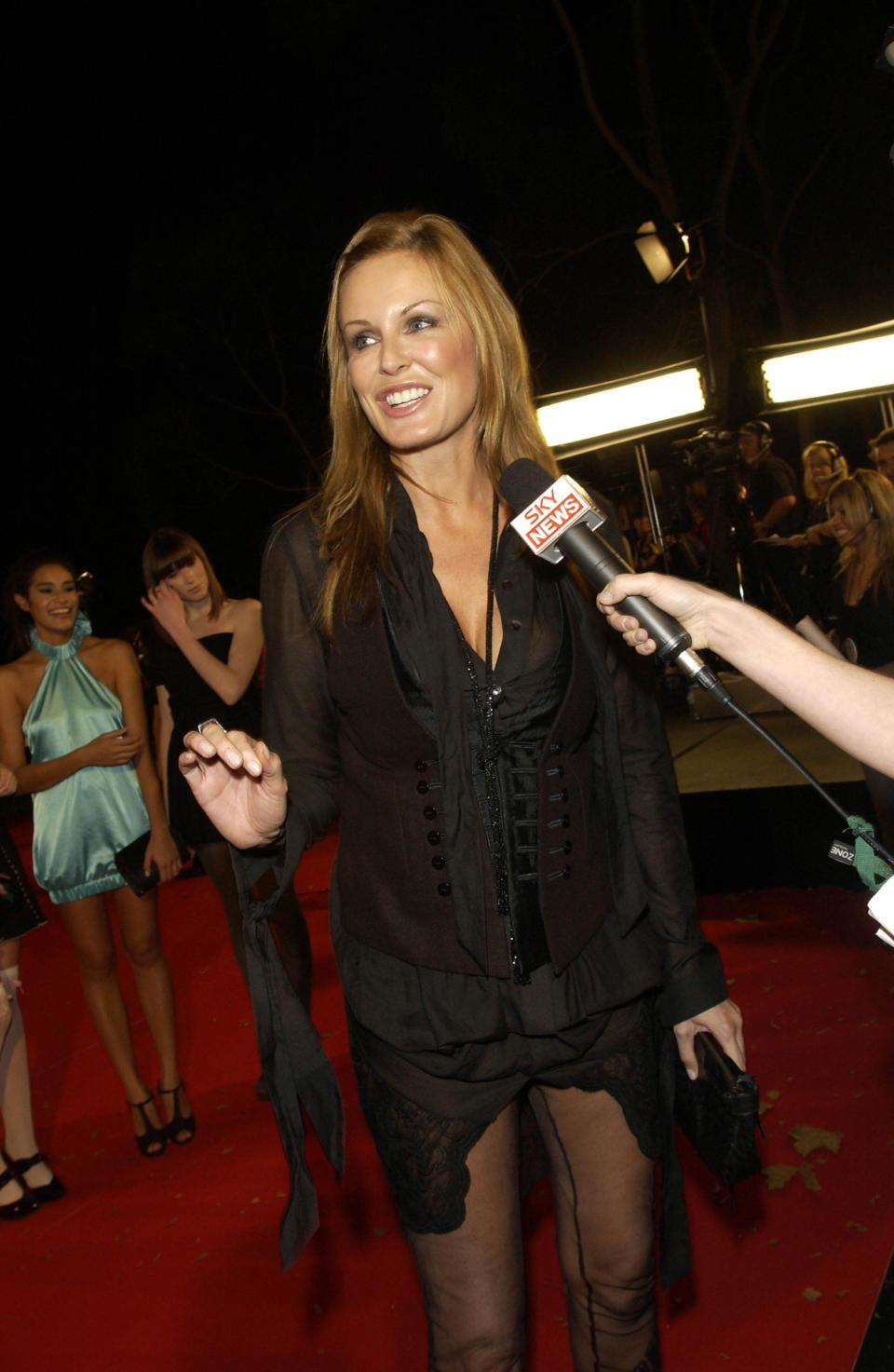 In this April 26, 2008 photo, Charlotte Dawson arrives on the red carpet for the MTV Australia awards in Sydney. Australian TV star and former model Dawson was found dead at age 47 in her Sydney apartment on Saturday morning, Feb. 22, 2014, following a history of depression. Police said there were no suspicious circumstances. (AP Photo/New Zealand Herald, Norrie Montgomery) NEW ZEALAND OUT, AUSTRALIA OUT, FAIRFAX OUT