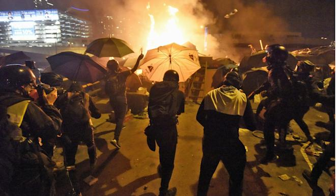 Hong Kong has been rocked by anti-government protests since June. Photo: Kyodo