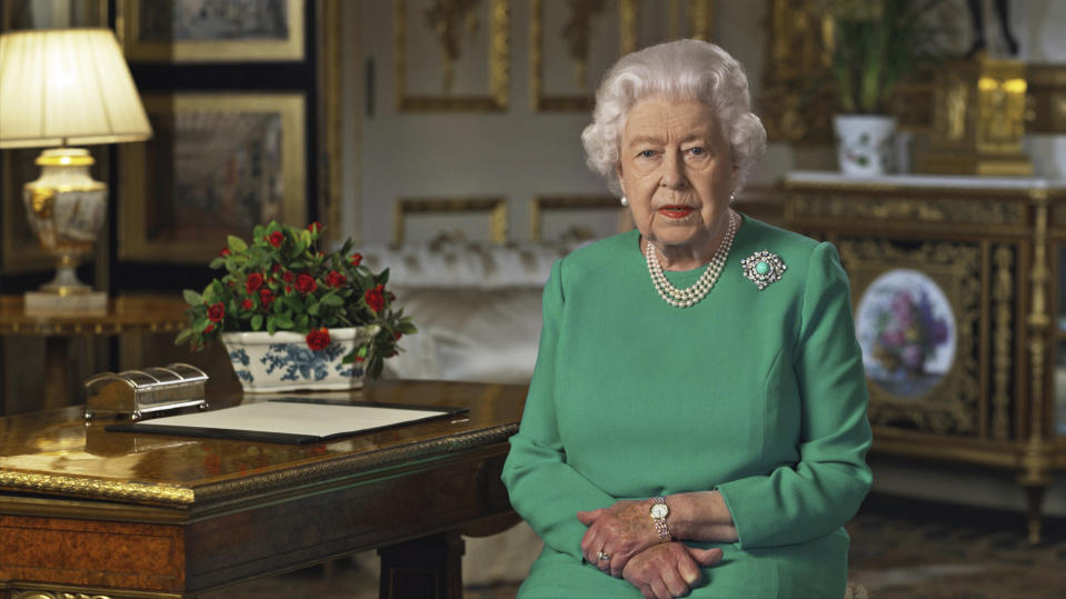 Nearly 24 million people tuned in to watch the monarch deliver her speech. (Buckingham Palace via AP)