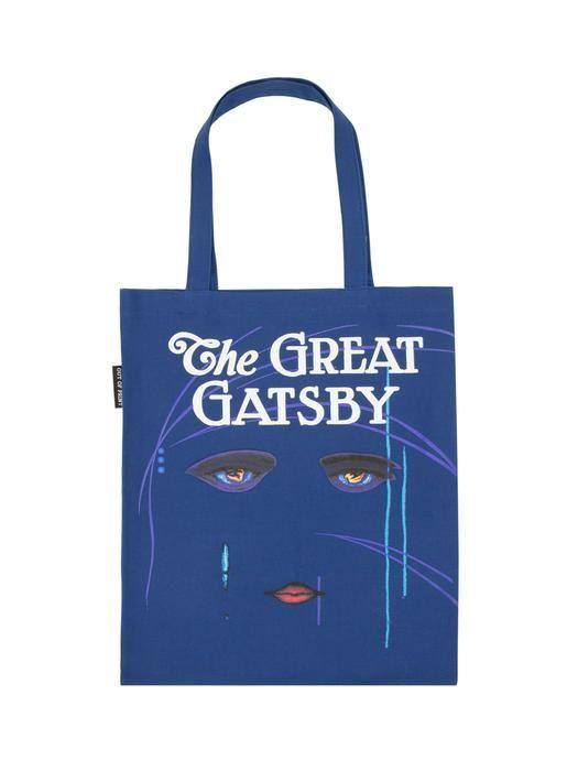 """<p><strong>Out of Print</strong></p><p>outofprint.com</p><p><strong>$150.00</strong></p><p><a href=""""https://outofprint.com/collections/totes/products/great-gatsby-tote"""" rel=""""nofollow noopener"""" target=""""_blank"""" data-ylk=""""slk:Shop Now"""" class=""""link rapid-noclick-resp"""">Shop Now</a></p><p>Out of Print transforms literary classics into apparel and accessories like this tote bag inspired by <em>The Great Gatsby</em> cover. With every purchase, a book is donated to communities in need. </p>"""