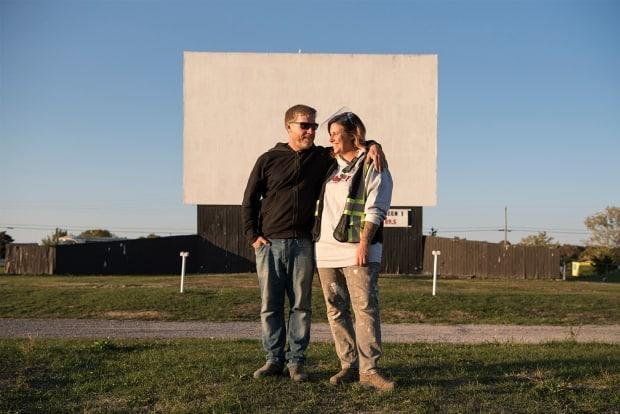 Dawn Laing and her partner decided to buy the Mustang Drive-In theatre in 2019. They took possession in April 2020 at the peak of the pandemic's first wave.  (Alex Lupul - image credit)
