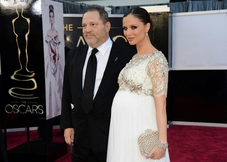 Weinstein and his estranged wife, designer Georgina Chapman, arrive at the Oscars at Hollywood & Highland Center for the 85th Annual Academy Awards