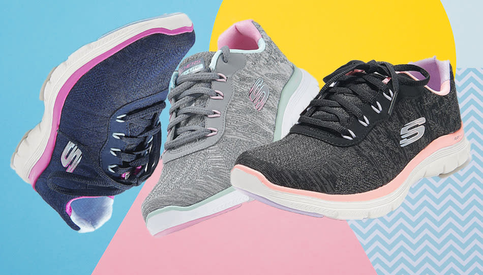 Skechers Fresh Move sneakers are on sale at QVC in plenty of sizes, two widths and three colorways. (Photo: QVC)