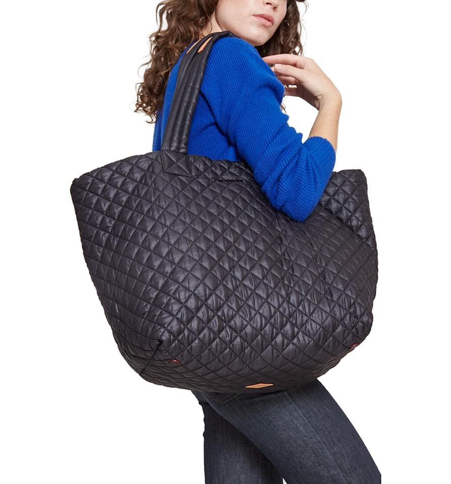 """<p>This lightweight <a href=""""https://www.popsugar.com/buy/MZ-Wallace-Large-Metro-Tote-541826?p_name=%20MZ%20Wallace%20Large%20Metro%20Tote&retailer=shop.nordstrom.com&pid=541826&price=235&evar1=fab%3Auk&evar9=44447011&evar98=https%3A%2F%2Fwww.popsugar.com%2Ffashion%2Fphoto-gallery%2F44447011%2Fimage%2F47129169%2FMZ-Wallace-Large-Metro-Tote&list1=shopping%2Cluggage%2Csuitcases%2Ctravel%20style%2Ctravel%20goods&prop13=api&pdata=1"""" rel=""""nofollow"""" data-shoppable-link=""""1"""" target=""""_blank"""" class=""""ga-track"""" data-ga-category=""""Related"""" data-ga-label=""""https://shop.nordstrom.com/s/mz-wallace-large-metro-tote/3147307/full?origin=category-personalizedsort&amp;breadcrumb=Home%2FBrands%2FMZ%20Wallace&amp;color=magnet%2F%20black%20lacquer"""" data-ga-action=""""In-Line Links""""> MZ Wallace Large Metro Tote </a> ($235) has so many useful pockets, plus it's so easy to clean.</p>"""