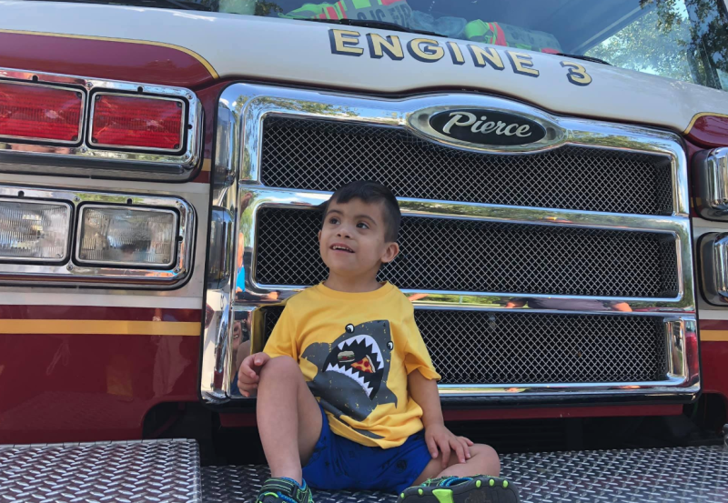 Shemy almost celebrated his 4th birthday alone, until the fire department showed up. (Photo: Luis Melendez)