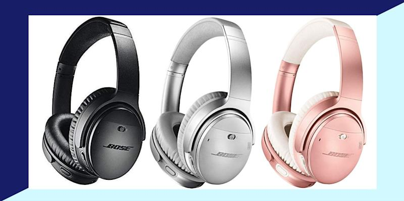 Give yourself or a loved one the gift of silence with these Bose noise-cancelling headphones that are on sale right now at Amazon. (Photo: Amazon)