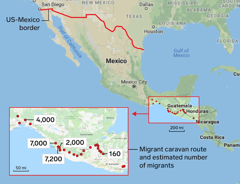 The migrant caravan from Central America is still hundreds of ...