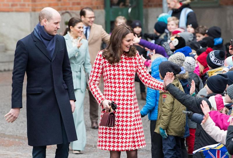 William and Kate are currently touring Sweden. Photo: Getty
